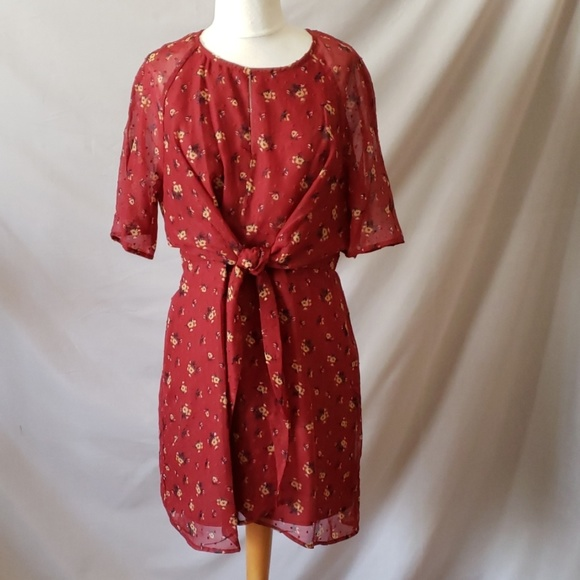 love, Fire Dresses & Skirts - Floral Front Tie Dress